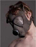 man gas mask