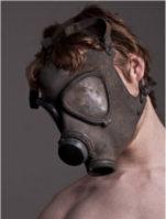 man gas mask