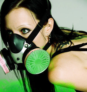 lady gas mask