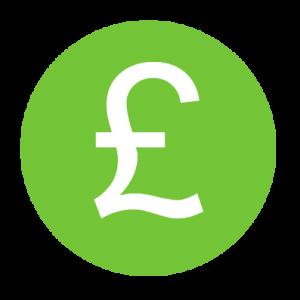 green pound sign