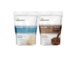 bag of IsaLean Vanilla Chai and Rich Chocolate Plant Based