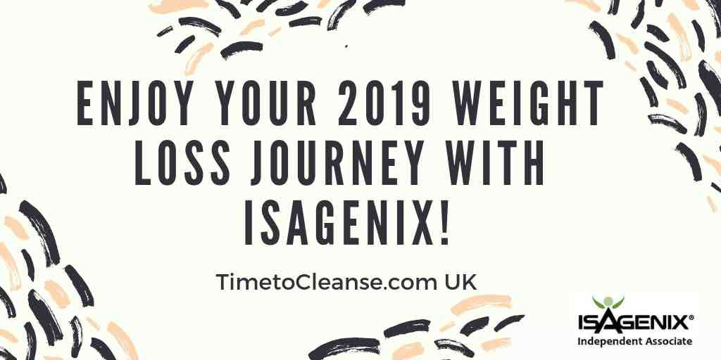 enjoy your 2019 weight loss journey with isagenix banner
