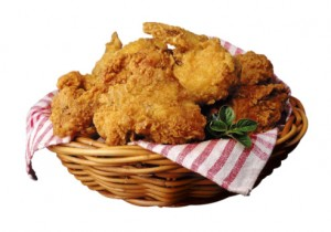 fried chicken in bowl