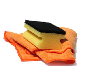 Sponge with cloth