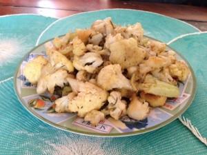 finished cauliflower recipe