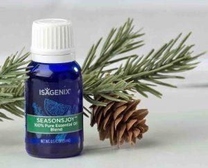 isagenix essential oil seasonal joy with pine branch