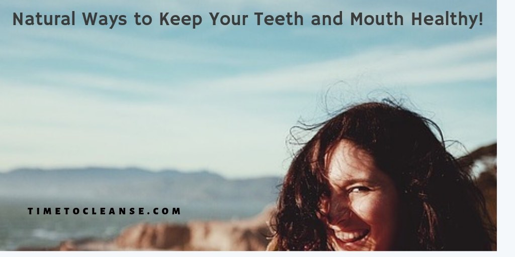 woman smiling outside and natural ways to keep teeth and mouth healthy banner